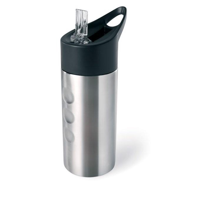 Metalowa butelka, ze słomką Lagoon