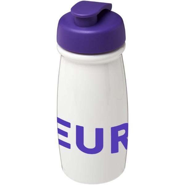 Sportovní láhev s vyklápěcím víčkem H2O Pulse® 600 ml - Bílá / Purpurová