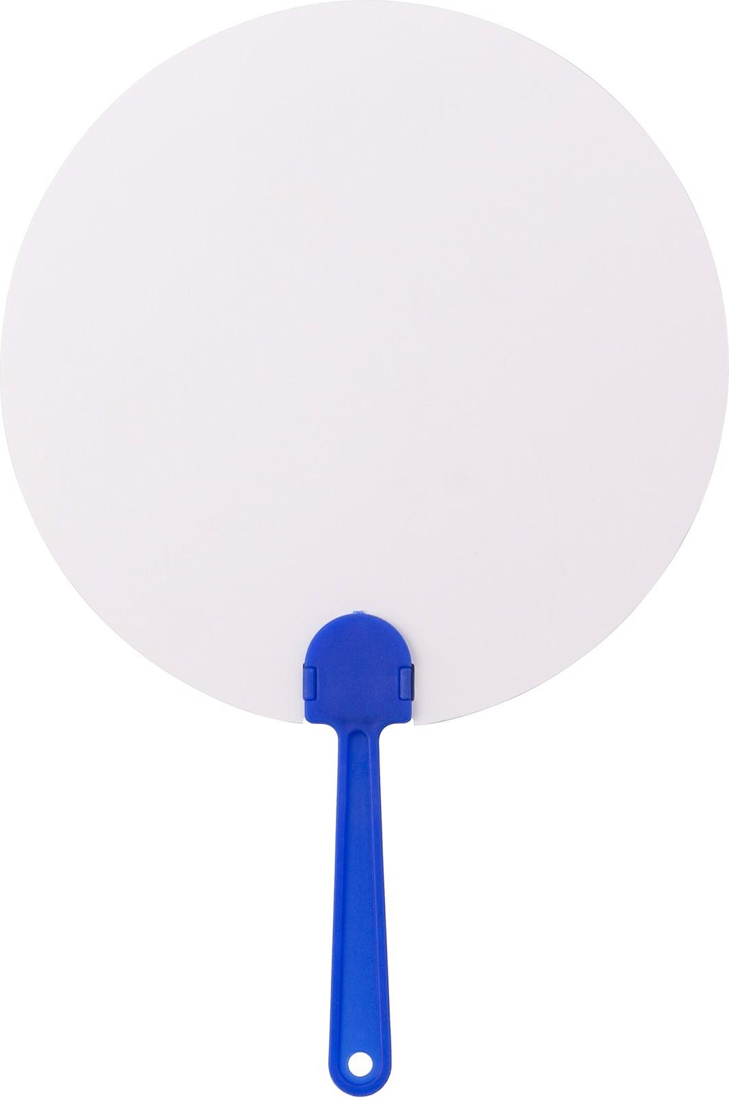 Paper hand fan - Cobalt Blue