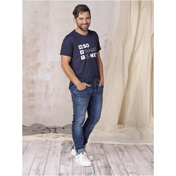 Jade short sleeve men's GRS recycled T-shirt - Nxt Blue / L