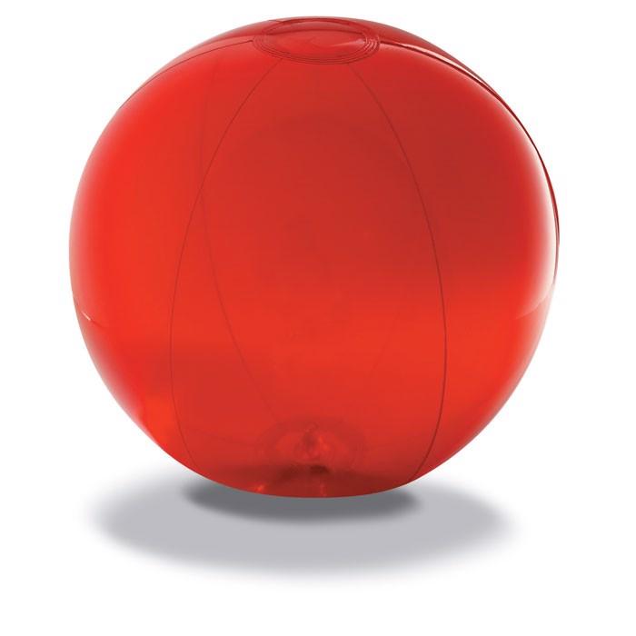 Transparent beach ball Aqua - Red