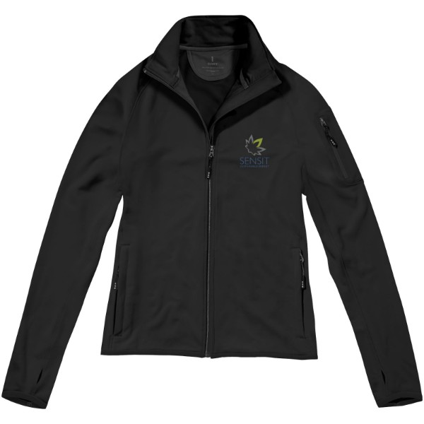 Mani power fleece full zip ladies jacket - Solid Black / L