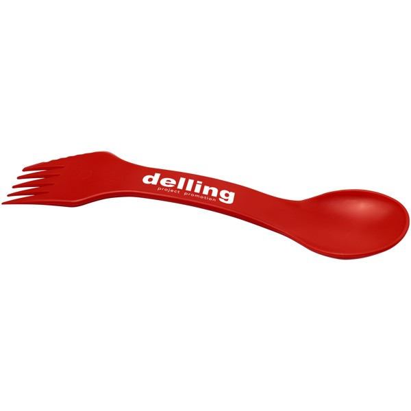 Epsy 3-in-1 spoon, fork, and knife - Red