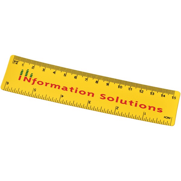 Rothko 15 cm plastic ruler - Yellow