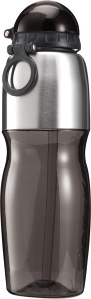 PS and stainless steel bottle - Black