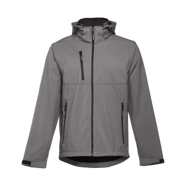 THC ZAGREB. Men's softshell with removable hood - Grey / XXL
