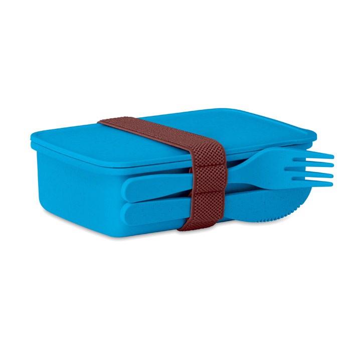 Lunch box in bamboo fibre /PP Astoriabox - Blue