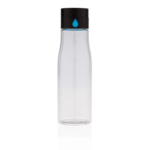 Aqua folyadékbevitel-követő tritán palack - Átlátszó