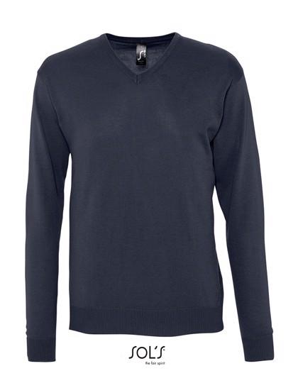 Men`S V Neck Sweater Galaxy - Navy / M