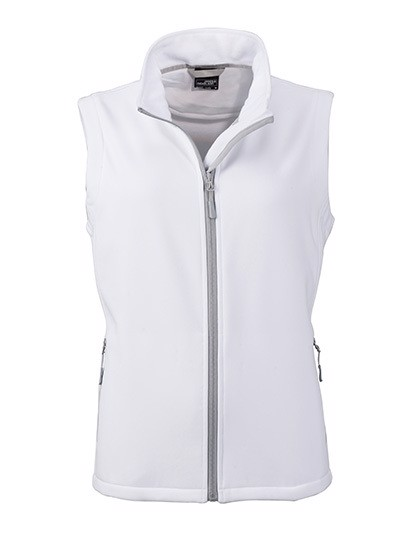 Ladies` Promo Softshell Vest - White / White / XXL