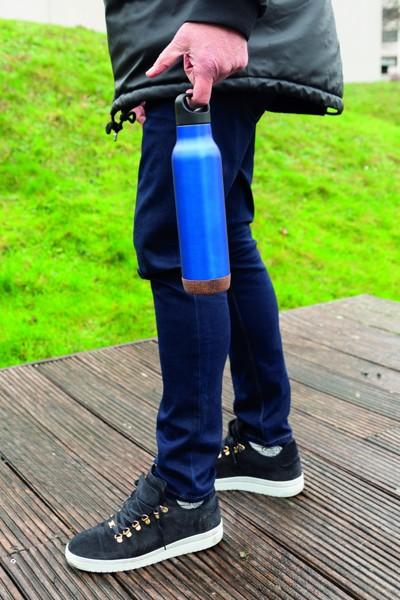 Nepropustná korková termo láhev - Modrá
