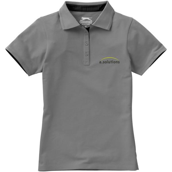 Hacker Poloshirt für Damen - Grau / Schwarz / M