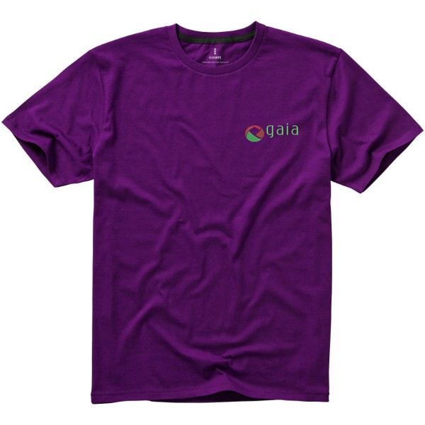 Nanaimo short sleeve men's t-shirt - Plum / L