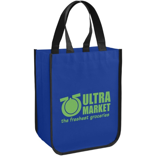Acolla small laminated shopping tote bag - Royal blue