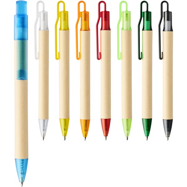Safi papírové kuličkové pero - Žlutá
