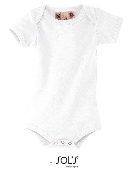 Organic Bambino Bodysuit - White / 6-12 months