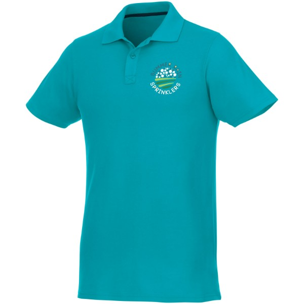 Helios short sleeve men's polo - Aqua / 3XL