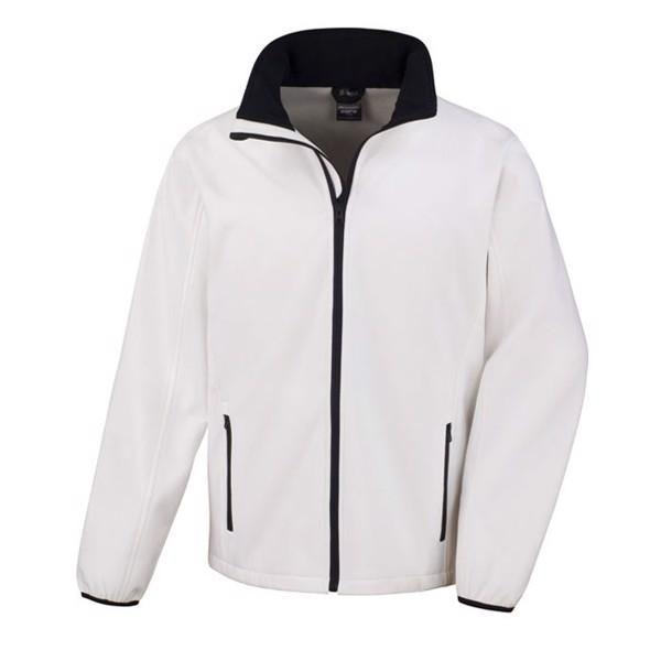 Men's Softshell 280 g/m2 Soft Shell Jacket R231m - White / XXL