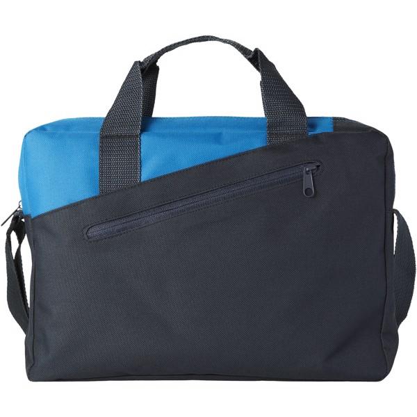 Konferenční taška Portland - Charcoal / Process blue