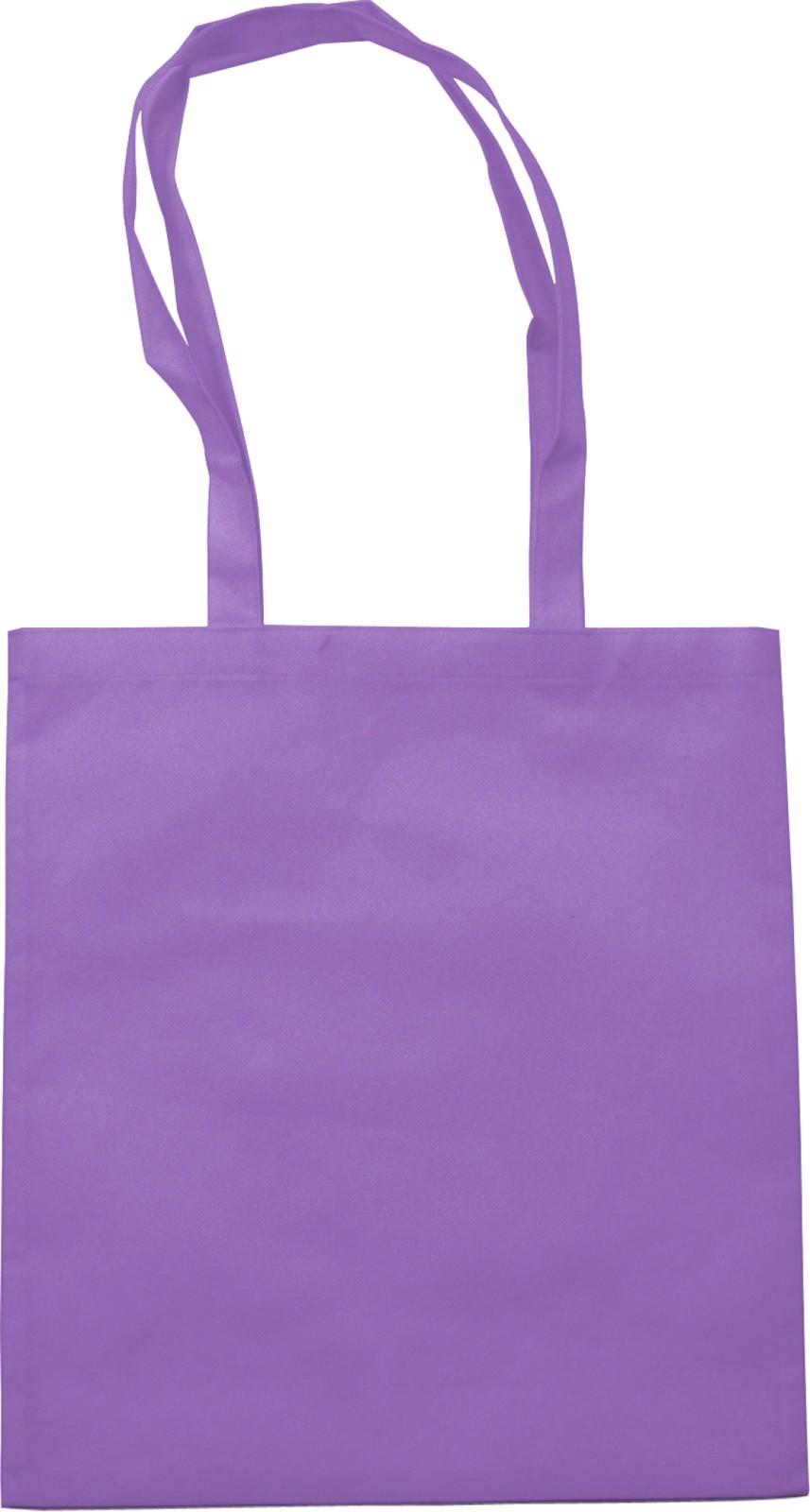 Nonwoven (80 gr/m²) shopping bag - Purple