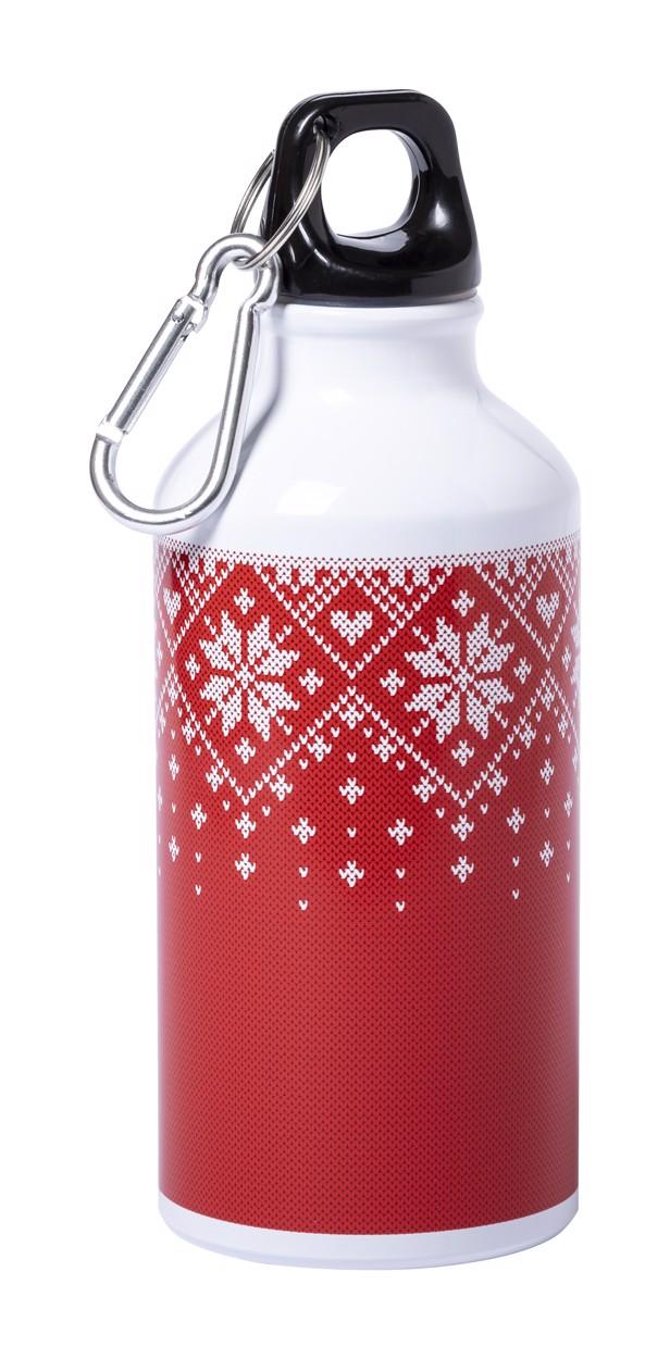Športna steklenička Raven - Red / White