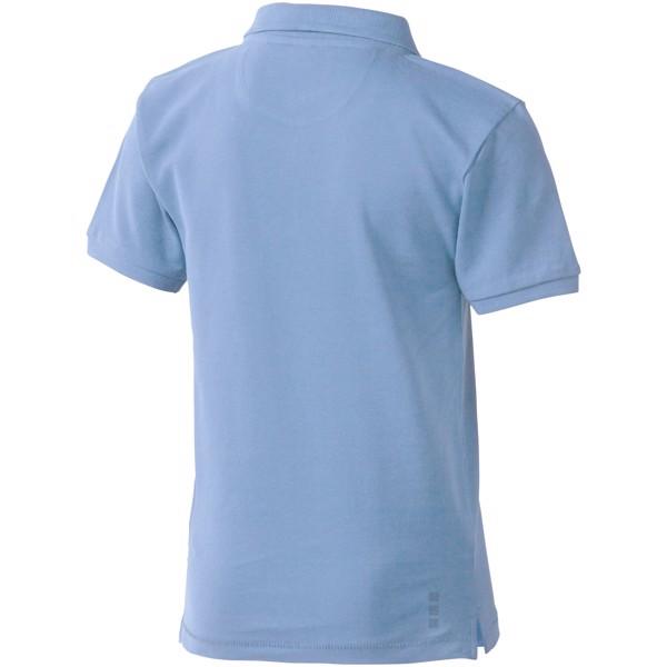 Calgary short sleeve kids polo - Light Blue / 140
