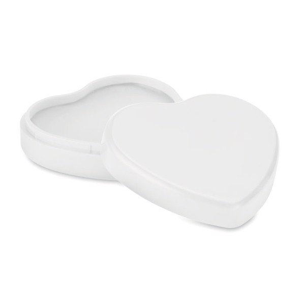 Lip balm in heart shaped case Coeur - White