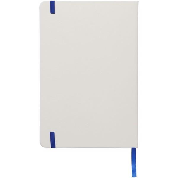 Bílý zápisník Spectrum A5 s barevnou páskou - Bílá / Světle modrá