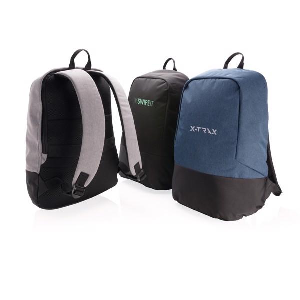 Standardní RFID nedobytný batoh - Černá / Černá