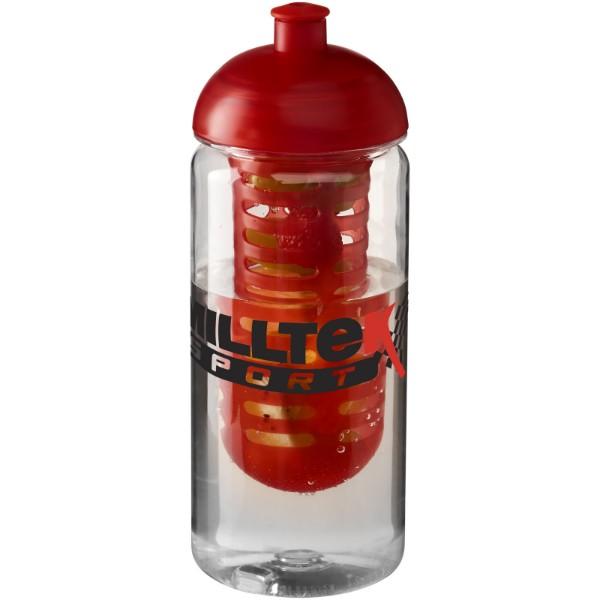 H2O Octave Tritan™ 600 ml dome lid bottle & infuser - Transparent / Red