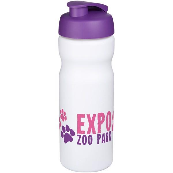 Sportovní láhev s vyklápěcím víčkem Baseline® Plus 650 ml - Bílá / Purpurová