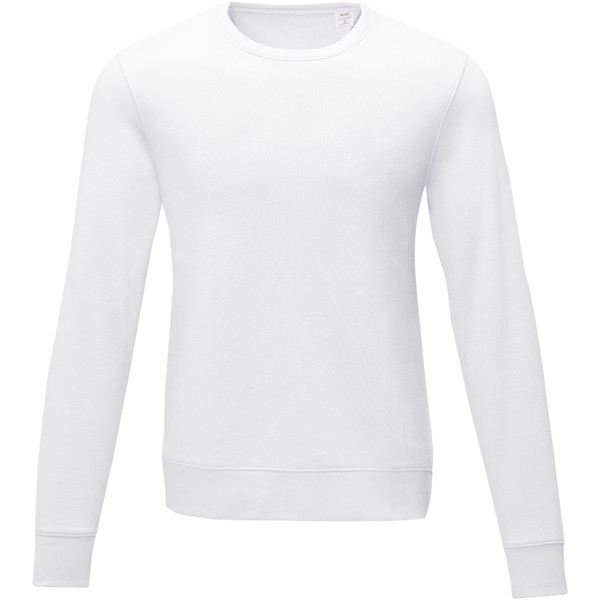 Zenon men's crewneck sweater - White / 5XL