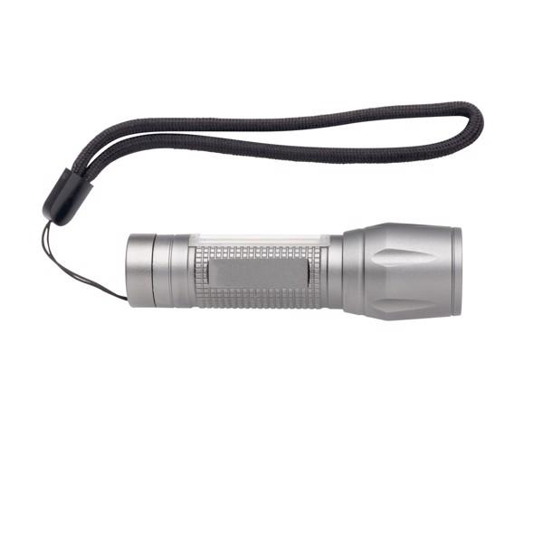 3W-os LED zseblámpa COB-vel - Szürke