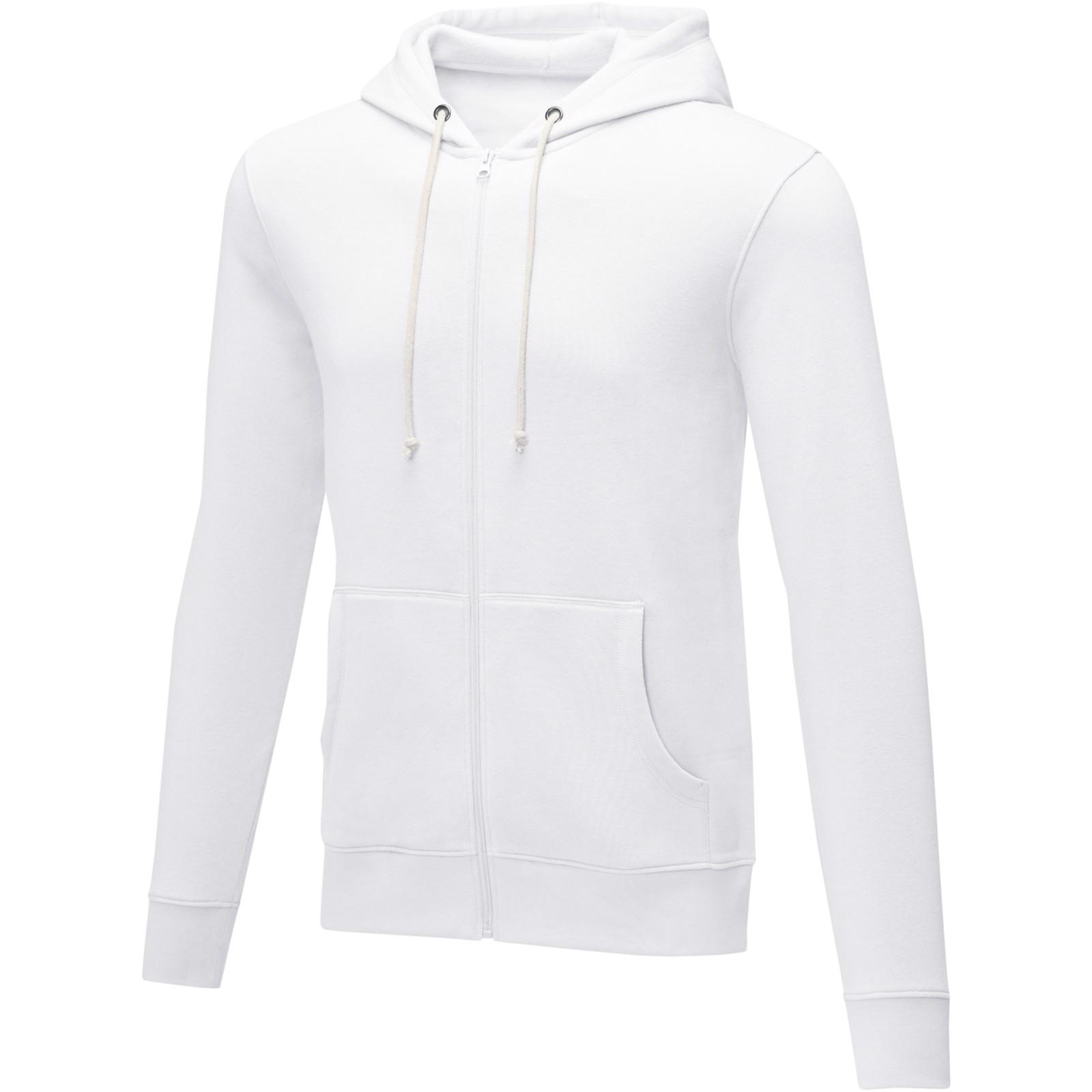 Theron men's full zip hoodie - White / L