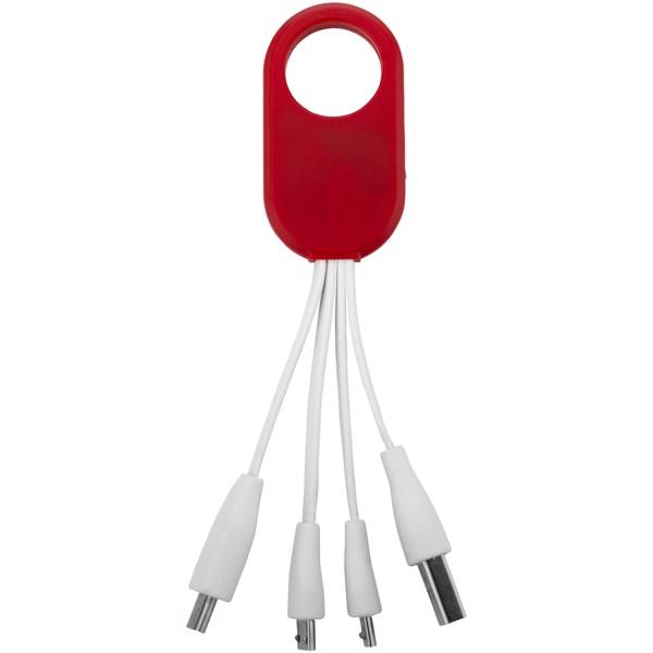 napájecí kabel 4 v 1 Troup, typ C - Červená s efektem námrazy