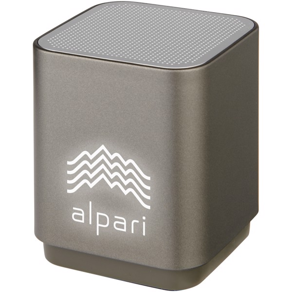 Beam leuchtender Bluetooth® Lautsprecher - graphitfarben