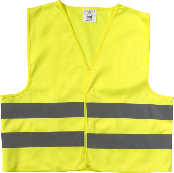 Polyester (75D) safety jacket - Yellow / XS