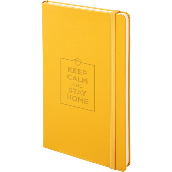 Classic L hard cover notebook - ruled - Dark Yellow