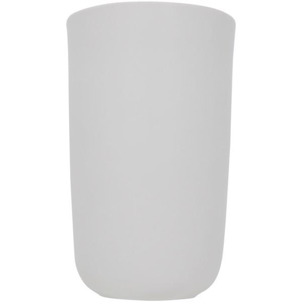 "Vaso de cerámica de doble pared de 410ml ""Mysa"" - Blanco"
