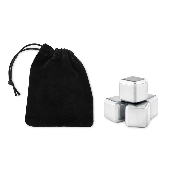 4-delni komplet kock za hlajenje pijač v vrečki za shranjevanje Icy