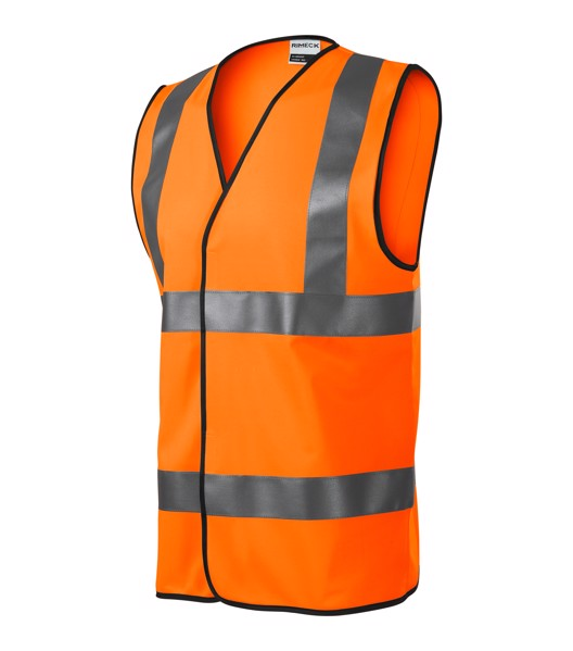 Bezpečnostní vesta unisex Rimeck HV Bright - Fluorescenční Oranžová / 2XL