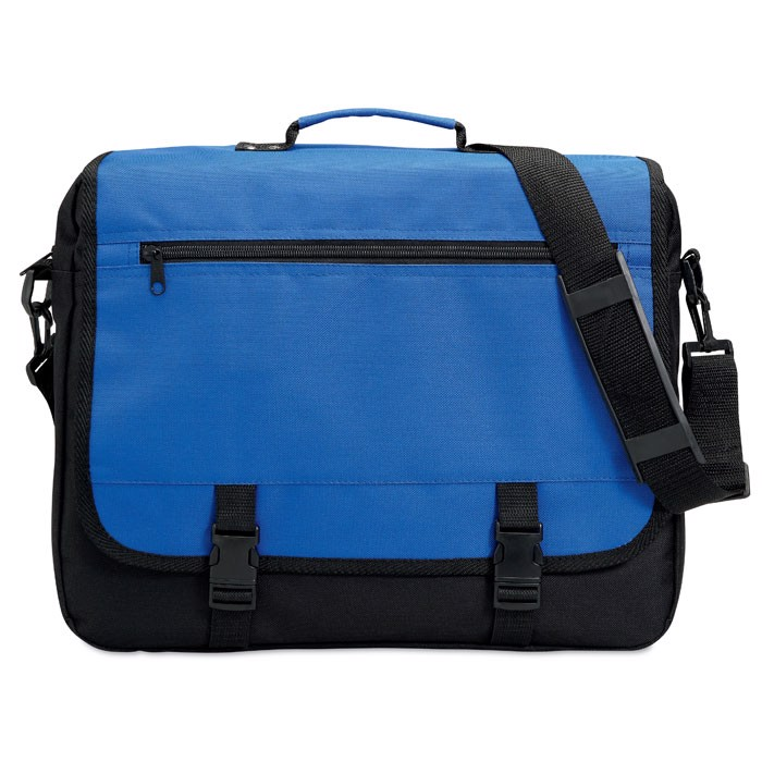 600D polyester document bag Flapa - Royal Blue