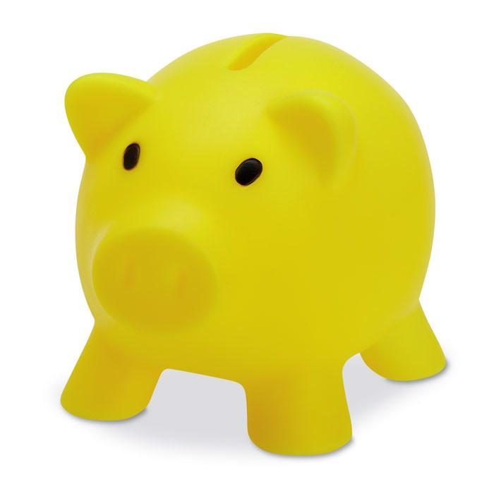 Świnka skarbonka Softco - żółty
