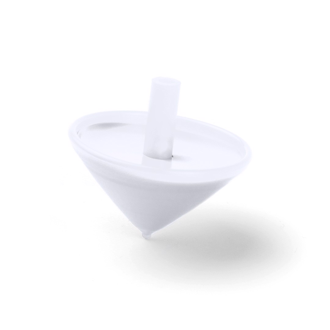 Spinning Top Buddy - White