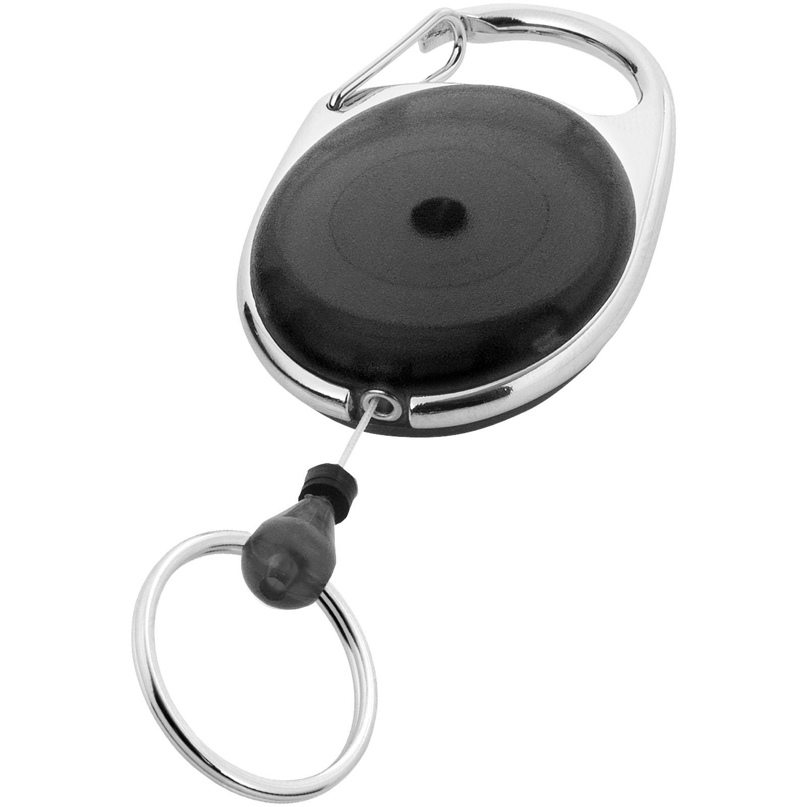 Gerlos Schlüsselkette mit Rollerclip - Schwarz
