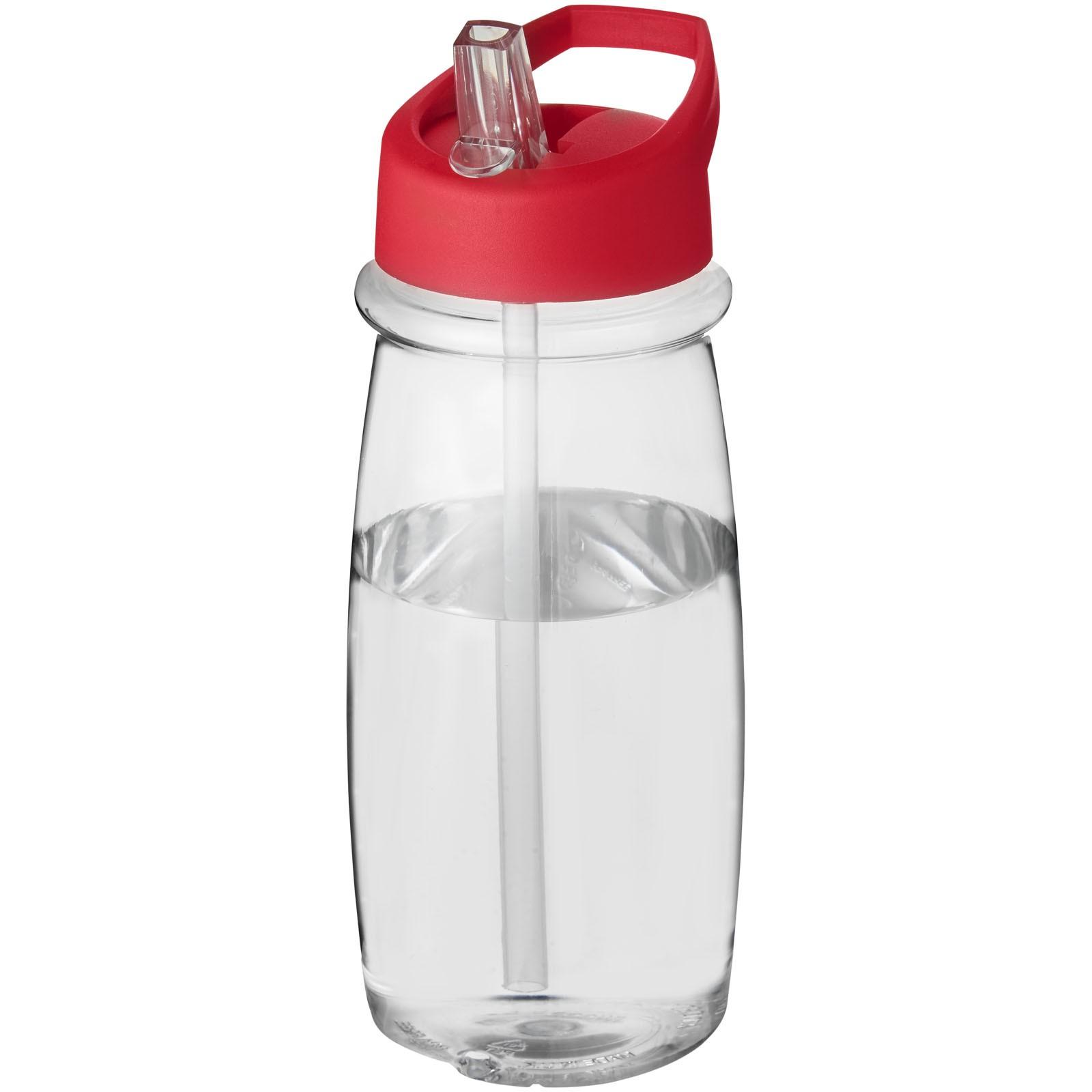 Sportovní láhev svíčkem shubičkou H2O Pulse 600 ml - Průhledná / Červená s efektem námrazy