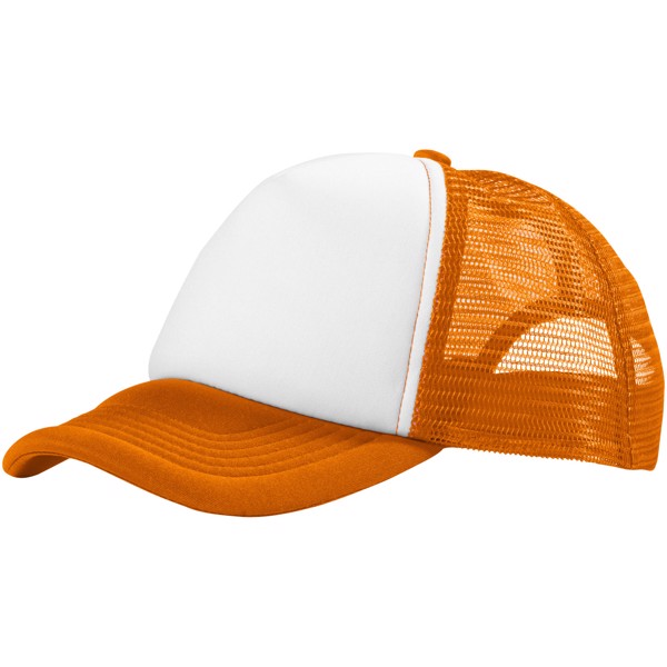 Trucker 5 panel cap - Orange / White