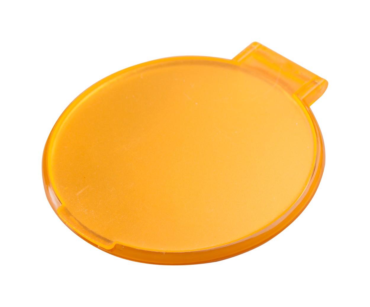 Zrcátko Thiny - Oranžová / Bílá