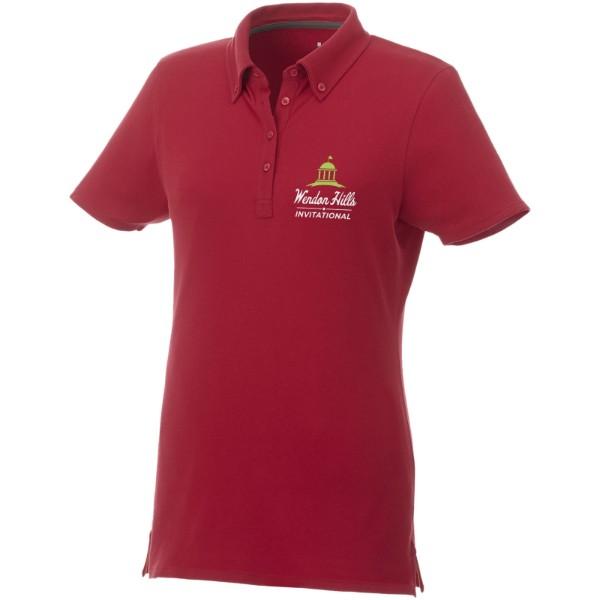 Polo boutonné manches courtes femme Atkinson - Rouge / XS