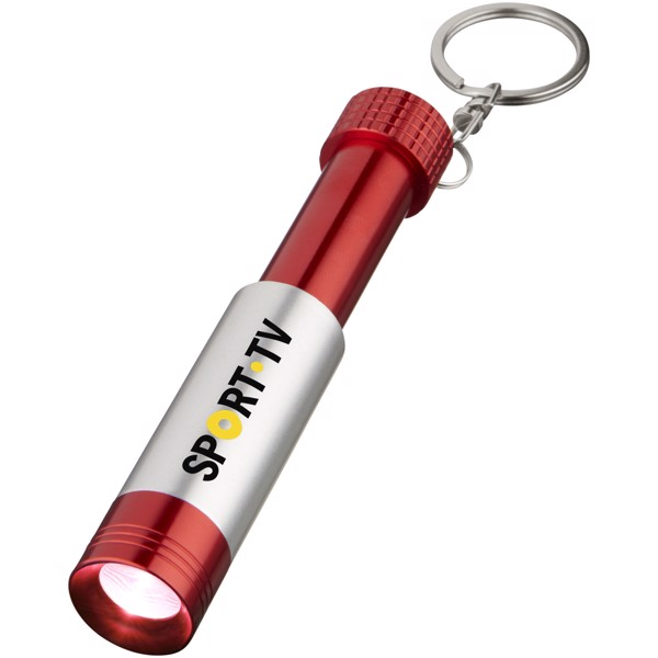 Bezou light-up key light - Red / Silver